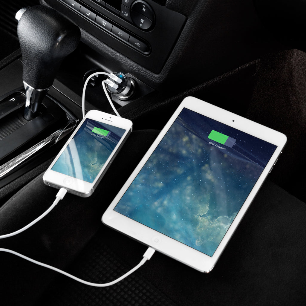 Dual-Port Rapid USB Car Charger - Apple iPhone 3G S Charger