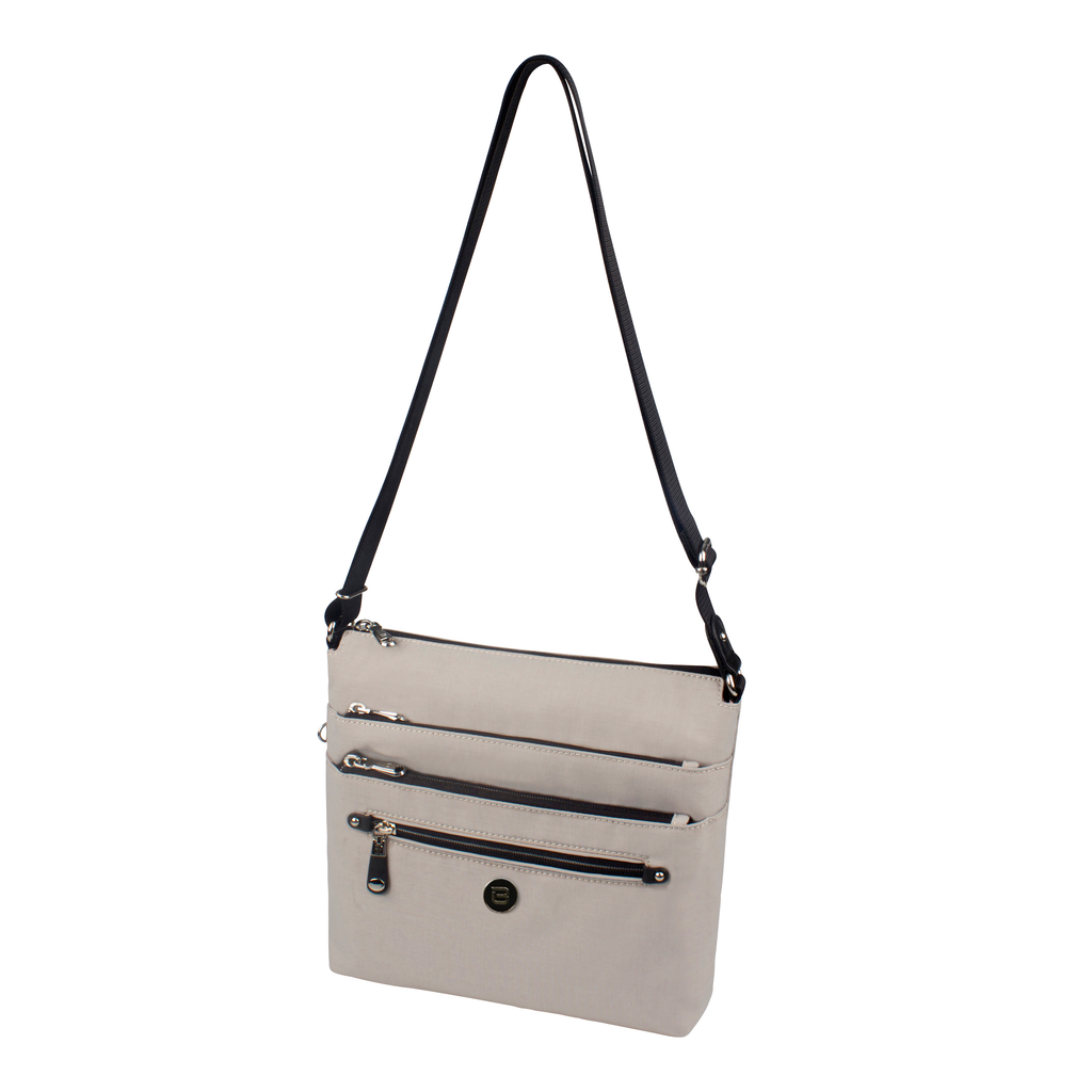 Crossbody Bag - Buena Print Crossbody Bag Angled [Grey White]
