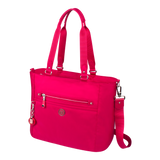 Satchel Handbag - Glen Satchel Bag Angled [Raspberry Soda]