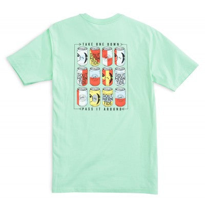 Southern Tide Take One Down Pass It Around T-Shirt - Offshore Green