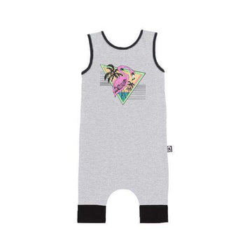 Tank Capri Rag - 'Flamingo' - Heather Grey