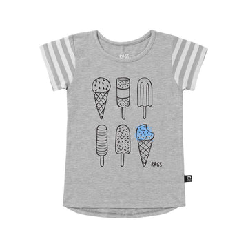 Kids OG Style Tee - 'I Scream' - Heather Grey