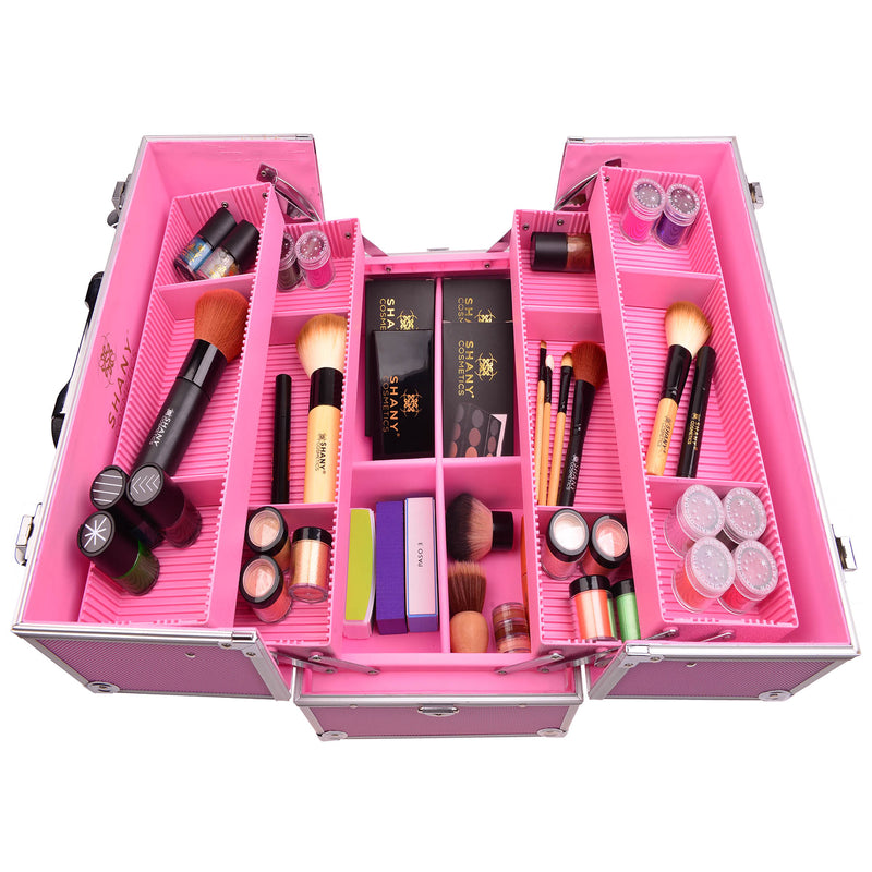 SHANY Essential Makeup Case Pink - PINK - ITEM# SH-C005-PK - Best seller in cosmetics MAKEUP TRAIN CASES category