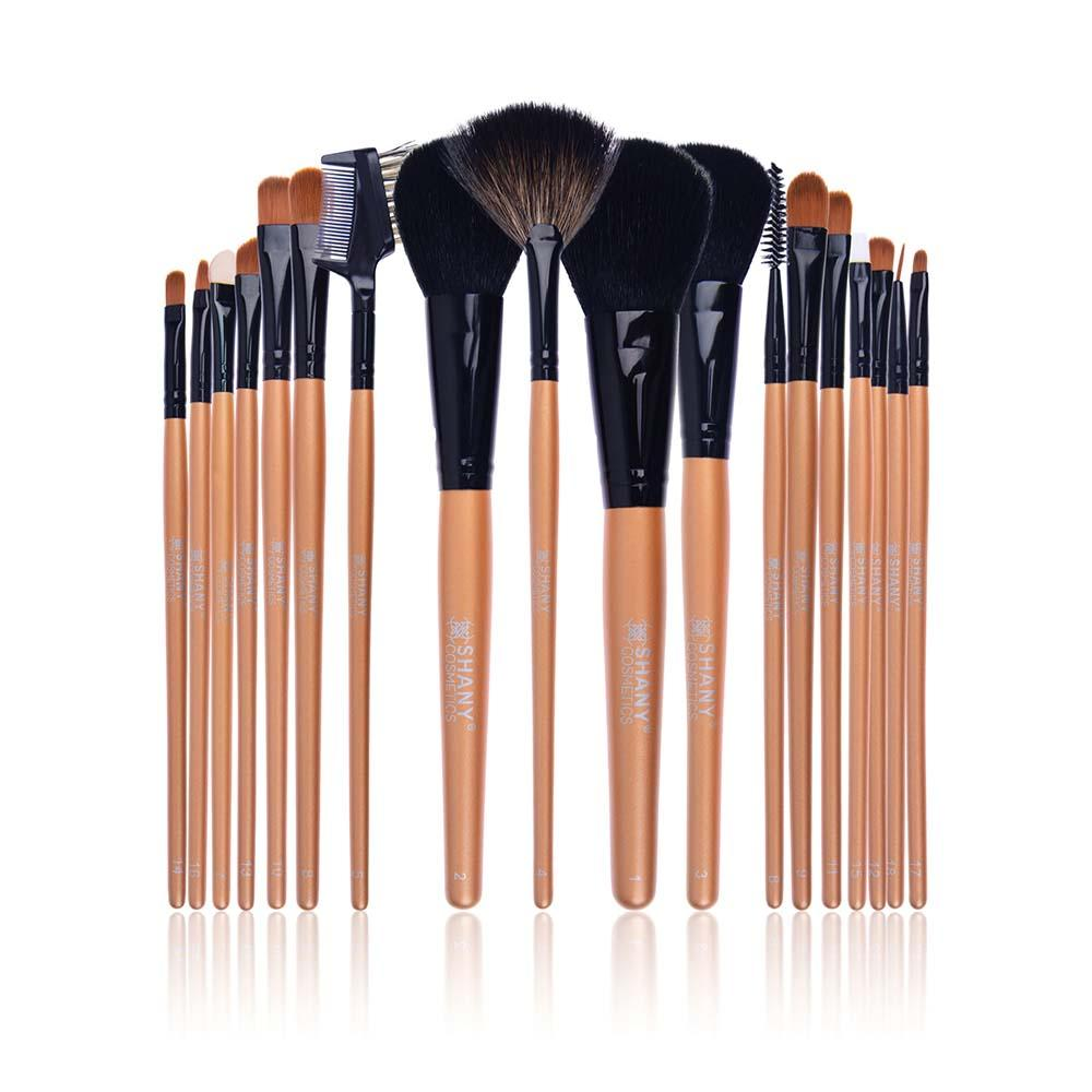 SHANY Makeup Brush Apron with Brushes - 18pc BJF Goat Hair with Apron - SHOP  - BRUSH SETS - ITEM# SH-APRON-03