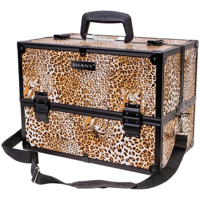 SHANY Essential Pro Makeup - Leapord - LEOPARD - ITEM# SH-C005-LP - Best seller in cosmetics MAKEUP TRAIN CASES category