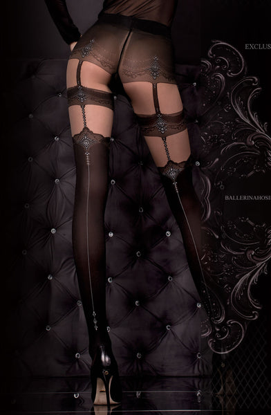 Ballerina Ballerina 300 Tights Nero (Black)/Skin B