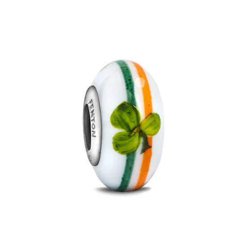 """The Irish"" Hand Decorated Glass Bead"