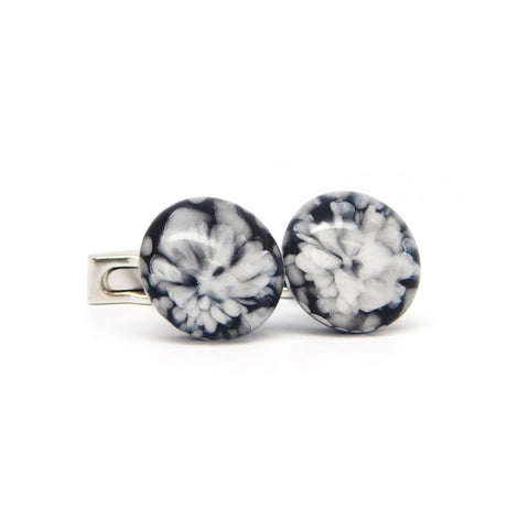"""Frozen Waters"" Glass Crafted Cufflinks"