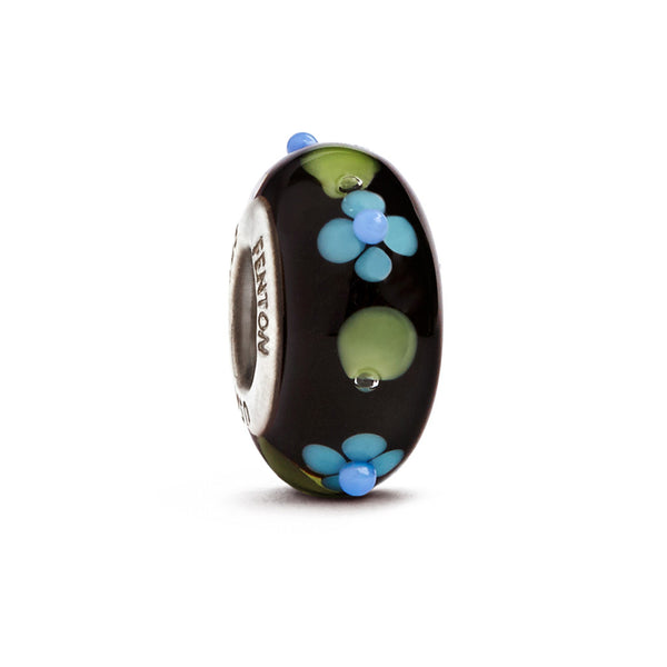 """Nighttime Garden"" Whimsy Glass Bead - Fenton Glass Jewelry"
