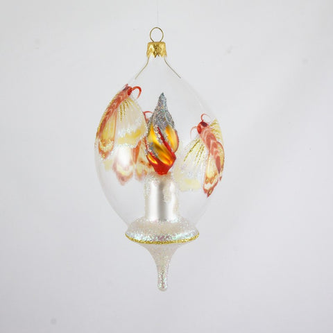 Dome with Candle and Moth Christmas Ornament - www.giftsbykasia.com - 1