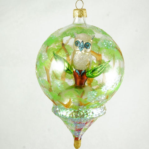 Dome with Owl Christmas Ornament - www.giftsbykasia.com - 1
