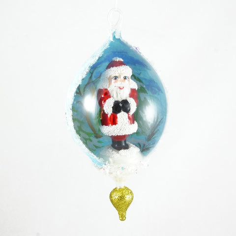 Dome with Small Santa Christmas Ornament - www.giftsbykasia.com - 1