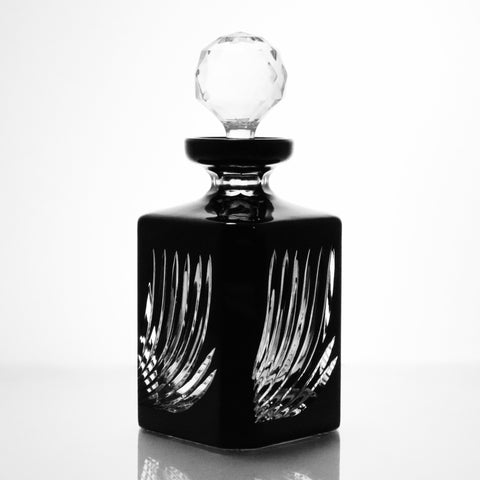 Onyx Flame Cut Crystal Whiskey Decanter - Gifts by Kasia - 1