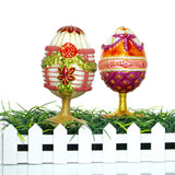 Purple and Orange Egg Stand Christmas or Easter Ornament - Gifts by Kasia - 4