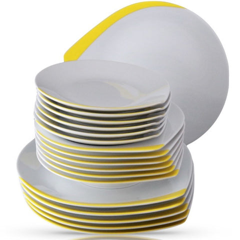 Kropla Plates 6 place setting, 18 pieces.