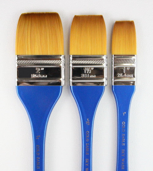 GOLD SABLE FLAT WASH BRUSH