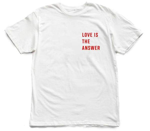 LITA : Love is The Answer Block [tee] in WHITE