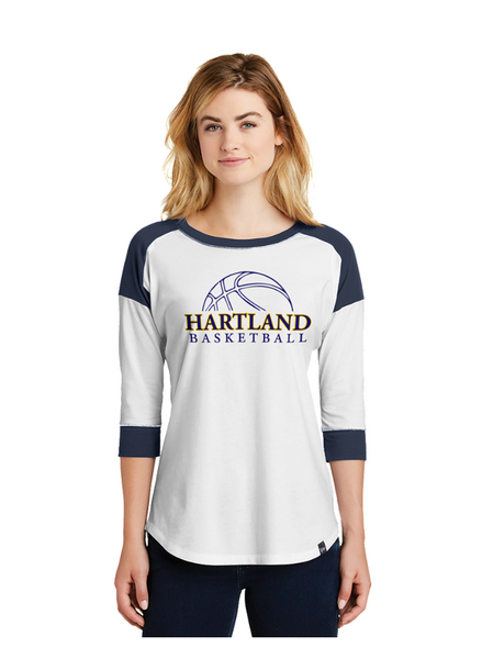 New Era Ladies Heritage Blend 3/4 Sleeve Raglan Tee LNEA104