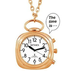 ATOMIC Talking Watch! - Sets Itself SENSES Women Beautiful Rose-Gold tone Talking Pendant (TC-1028)