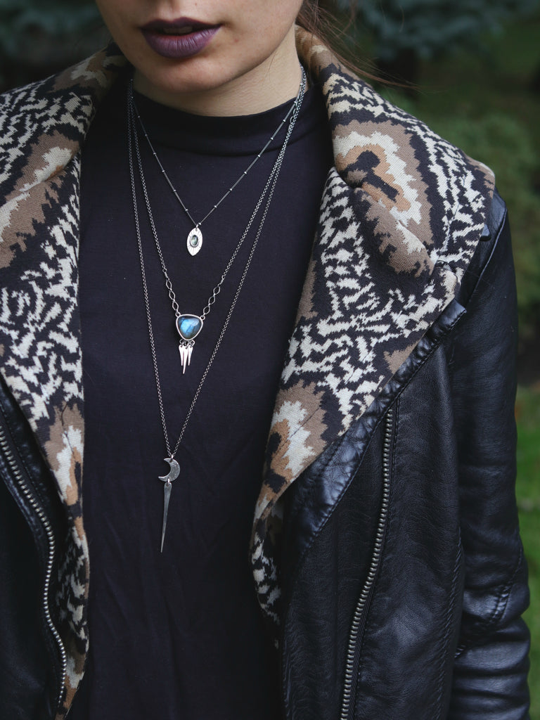 Moon Spear Long Layering Necklace *Limited*