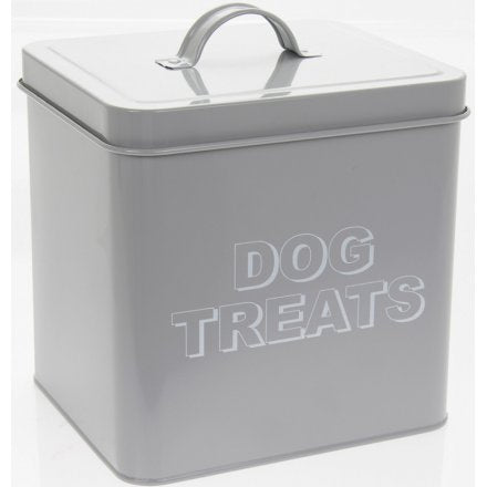 Grey Dog Treats Tin