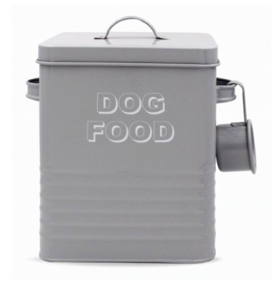 Grey Dog Food Tin
