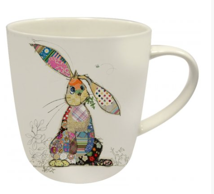 Bug Art Binky Bunny China Mug Kooks