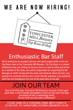 Part-Time Bar Staff Required