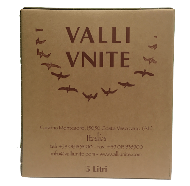 "Dolcetto Barbera ""Ottavio"", Valli Unite, Piedmont, Italy (5L Wine in a Box) - Organic Wine Club"