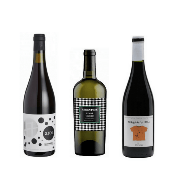 Intro case of 3 natural wines with no added sulphites (mixed)