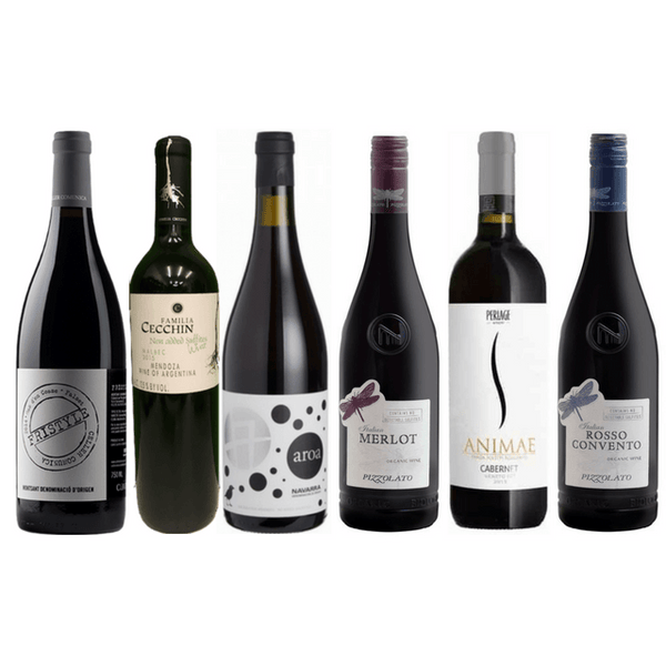 Strictly No Sulphites Added Wine Case | 6/12 Organic Red Wines