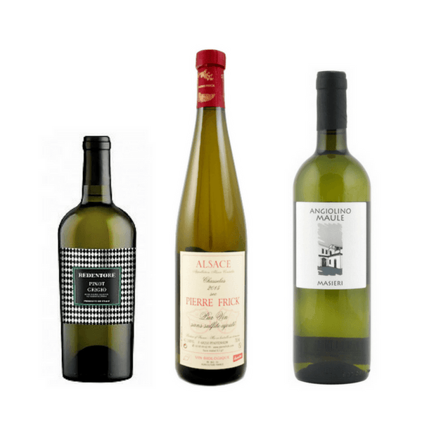 Strictly No Sulphites Added Wine Case of 6 Organic White Wines