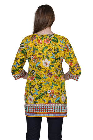 Floral Mixed Media Tunic