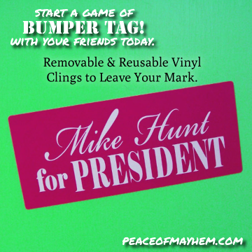 Mike Hunt for President Bumper Tag