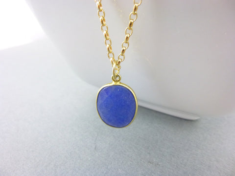 Blue Sapphire Pendant Necklace - Earth Energy Gemstones