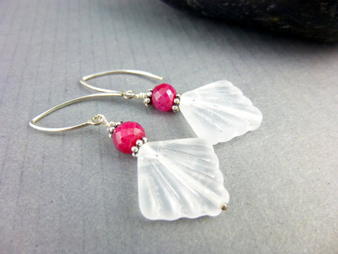 Ruby Chakra Earrings, July Birthstone - Earth Energy Gemstones
