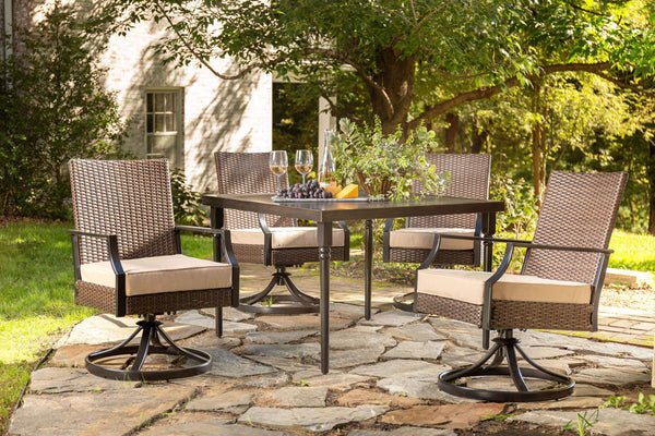 Addyson 5pc Cushioned Dining Set Square Dining Table And