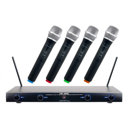 VocoPro VHF-4005 Wireless Microphone Rechargeable System