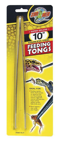 Zoo Med Super Deluxe 10″ Stainless Steel Feeding Tongs - DubiaRoaches.com