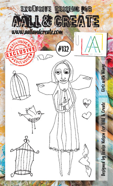 AALL & Create Stamp Set A6 #132 by Louise Nelson - Artified Shop  [product_venor]