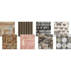 "Eclectic Elements 6""X6"" Fabric Pack By Tim Holtz 8/Pkg - Documentation - Artified Shop"