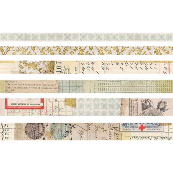 Idea-Ology Design Tape 6/Pkg - Salvaged - Artified Shop