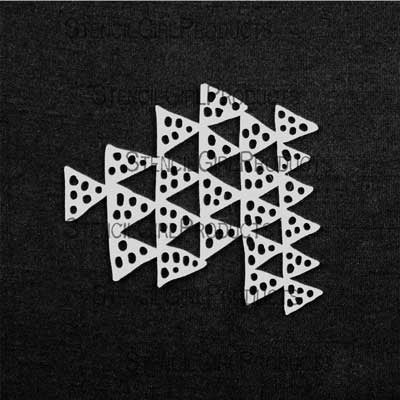 "Clustered Triangle Stencil and Mask 4x4"" - Artified Shop  [product_venor]"