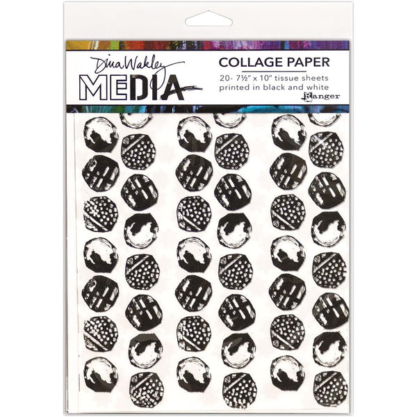 "Backgrounds Dina Wakley Media Collage Tissue Paper 7.5""X10"" 20/Pkg - Artified Shop  [product_venor]"