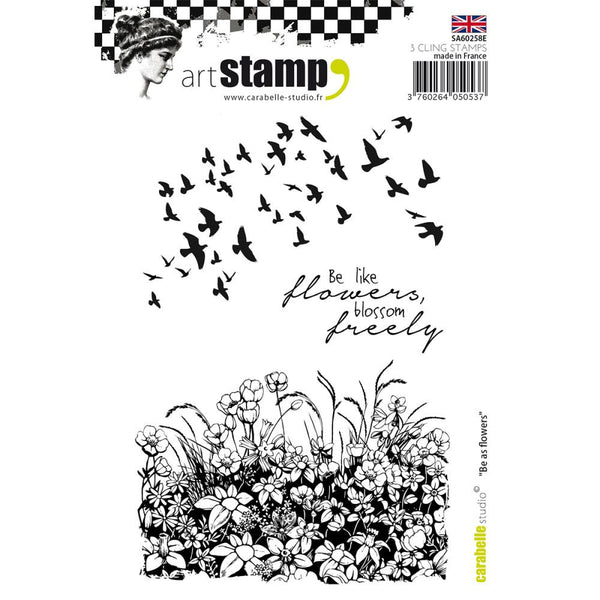 Carabelle Studio Cling Stamp A6 - Be As Flower - Artified Shop  [product_venor]
