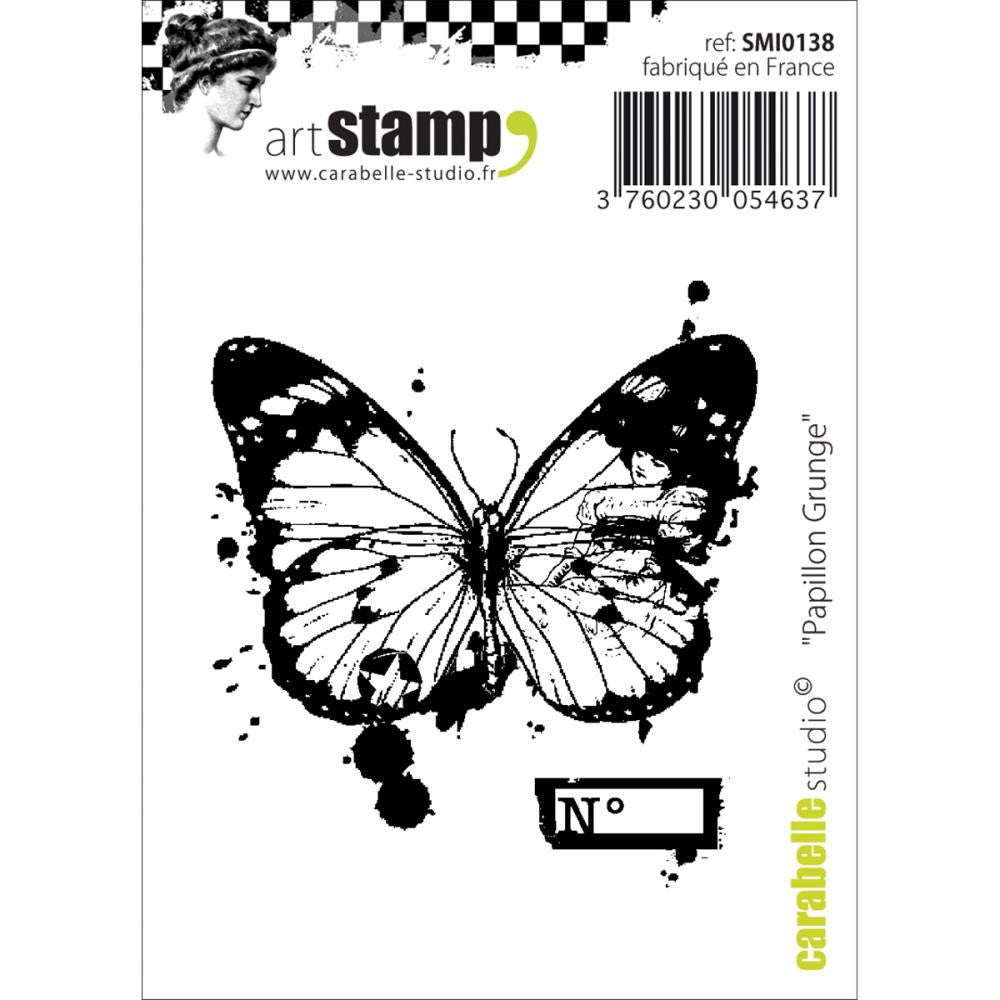 "Grunge Butterfly Carabelle Studio Cling Stamp 2.75""X3.75"" - Artified Shop"