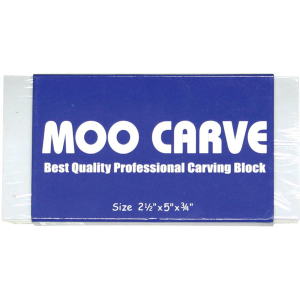 "Moo Carving Block 2.5x5"" x3/4"" - Artified Shop"