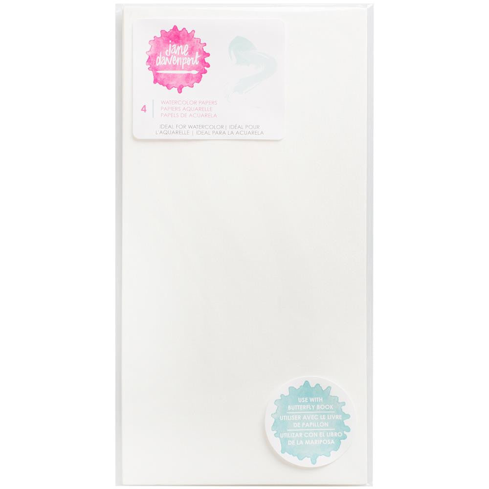 Jane Davenport Butterfly Effect Paper Inserts 4/Pkg - Watercolour - Artified Shop