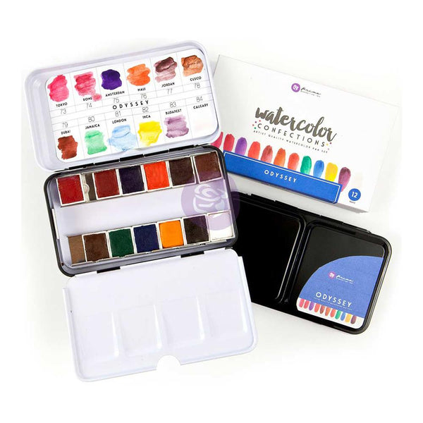 Odyssey Prima Watercolor Confections Watercolor Pans 12/Pkg - Artified Shop
