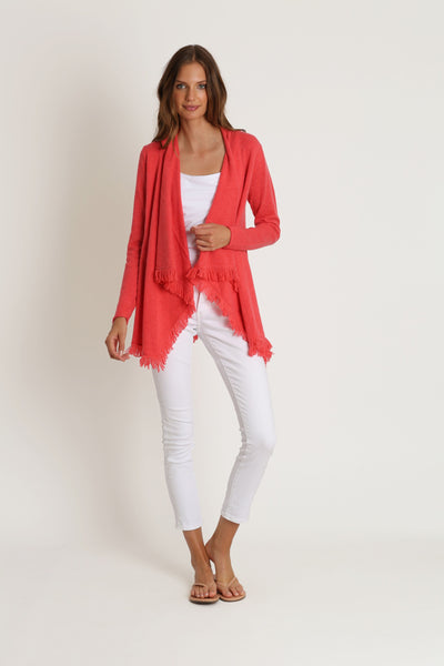 Coral Open Cashmere Sweater